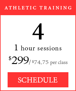 Athletic Training - 4 1-hour sessions, $299/$74.75 per class.