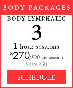 Body Packages - 3 1-hour Body Lymphatic sessions, $270/$90 per session, save $30.