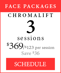 Face Packages - 3 Chromalift sessions, $369/$123 per session, save $36.