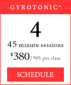 GYROTONIC® Classes - 4 45-minute sessions, $380/$95 per class.