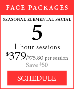 Face Packages - 5 1-hour Seasonal Elemental Facials, $379, save $50.