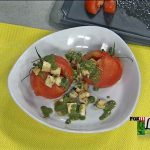 Weiler Academy Caprese Stuffed Tomatoes with Basil Vinaigrette